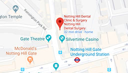 Notting Hill Dental Surgery - Google map